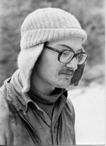 Enrico Gleria nel 1973: fu lui il grande trascinatore nelle grandi esplorazioni degli anni '70 (archivio GGT)