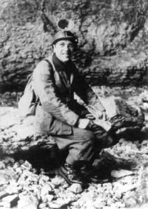 1960 Aldo Allegranzi all'ingresso della Rana
