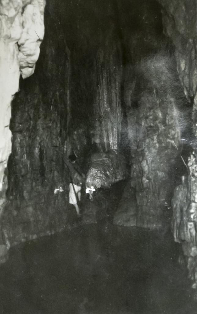 anni '30 Pila dell'Acqua Santa con rana in piena. Notare la presenza della parte inferiore, ora scomparsa (archivio GGT)