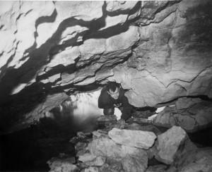 13/02/1955 Alberto Broglio al Sifone (foto A. Allegranzi, archivio GGT)