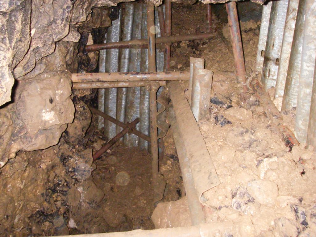 2006 scavo della frana in Pisatela