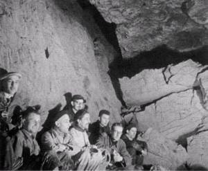 27/02/1955 Sala da Pranzo, Allegranzi, Broglio, Ruffo, i fratelli Pasa assieme ad altri amici (foto A. Allegranzi, archivio GGT)