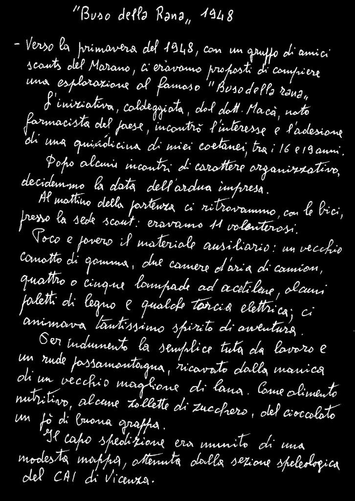 stalattite anno XIX 96-98 memoria preziosa Rana 1948 a